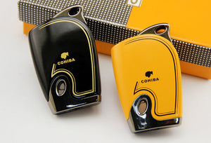 COHIBA Windproof Butane Gas Jet Flame Metal Lighter - Richard Cutters - Cigar Accessories