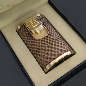 COHIBA 4 Torch Jet Fire Windproof Cigar Lighter without gas fuel - Richard Cutters - Cigar Accessories