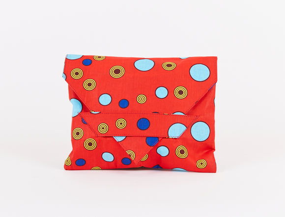 RED DOTS LAPTOP COVER / CLUTCH