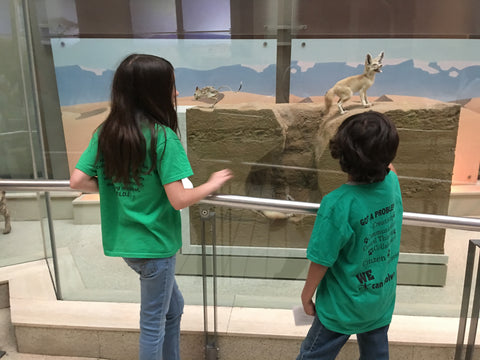 Hassan and his friend at the Museum