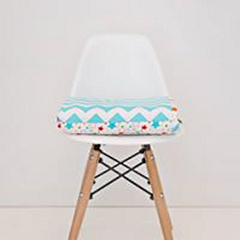 Blue Chevron Cotton Cot Quilt