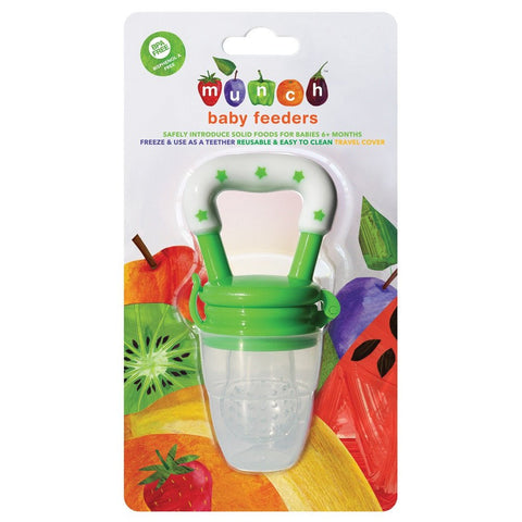 Munch Baby Feeder - Green and White