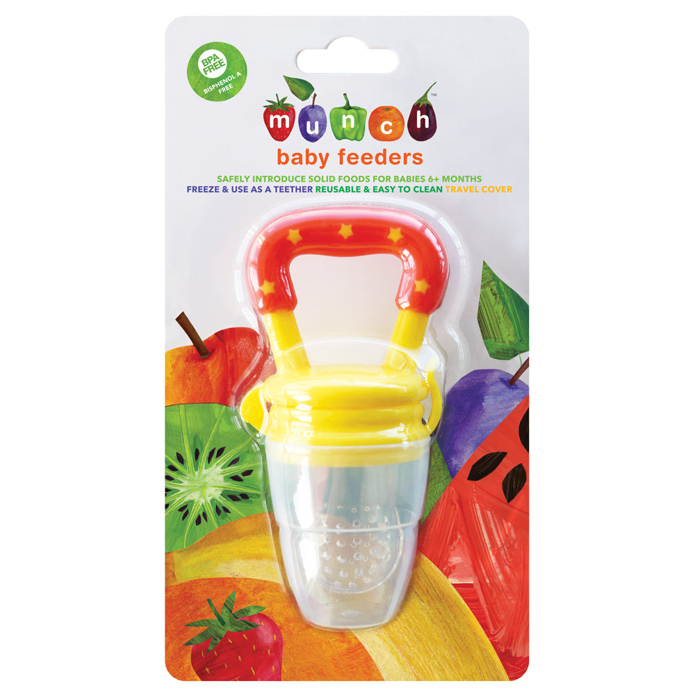 Munch Baby Feeder - Yellow and Orange