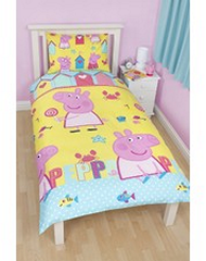 Peppa Pig at the Beach Reversible Single Bed Doona set