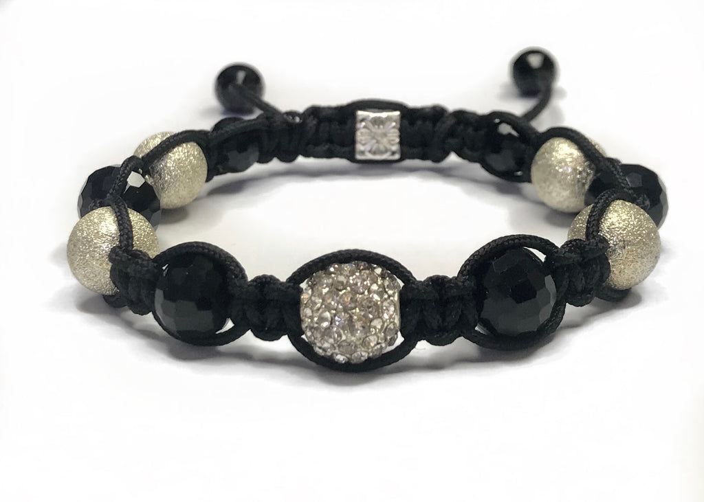 Shamballa Bracelet - sparkly and black