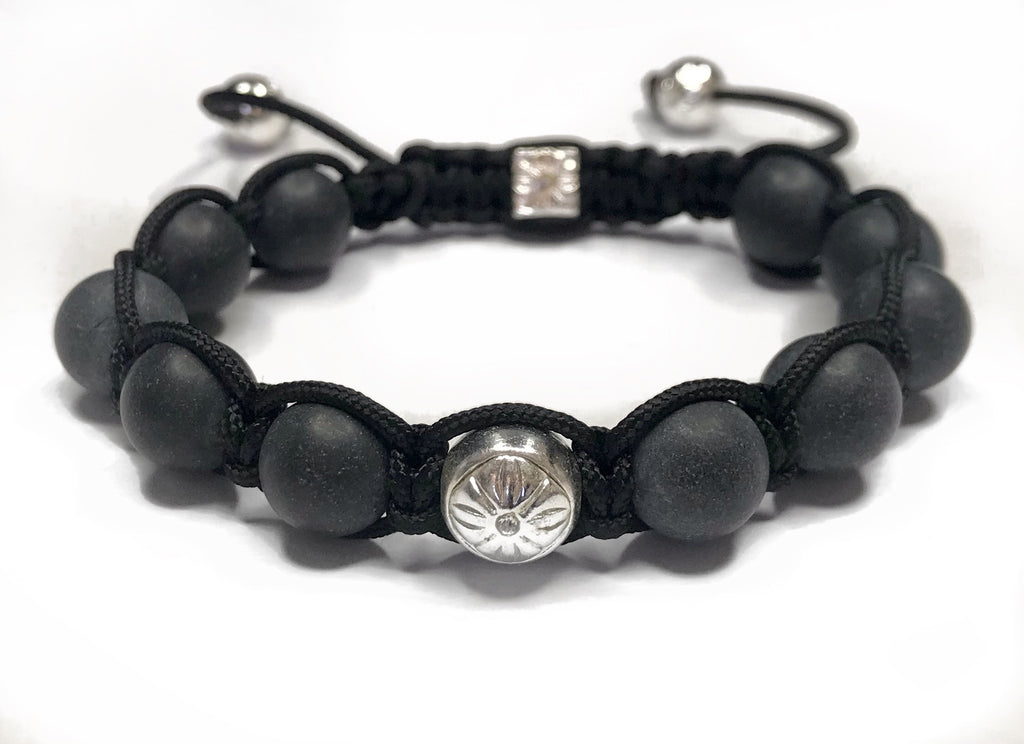 Shamballa Bracelet - smooth black