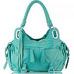 Sign In    Favorites Akgem Aqua Leather Handbag