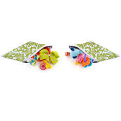 Itzy Ritzy Snack Happens Avocado Damask - 2 pack