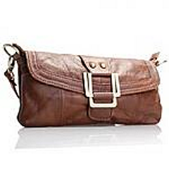 Akgem Brown Leather Clutch Bag