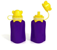 My Squeeze 170ml Reusable Purple and Yellow