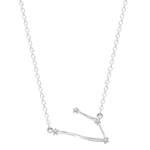 Sterling Silver Zircon Zodiac Constellation Necklace