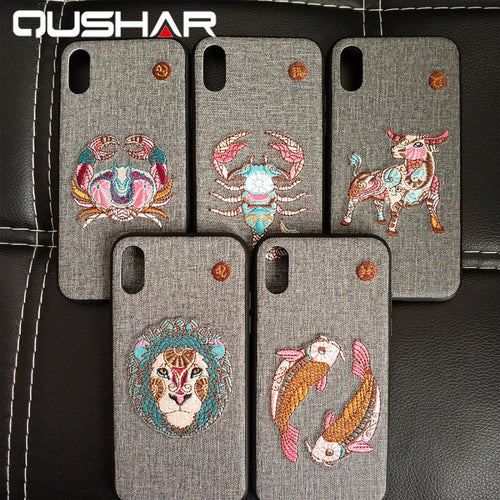 Embroidered Zodiac iPhone Case