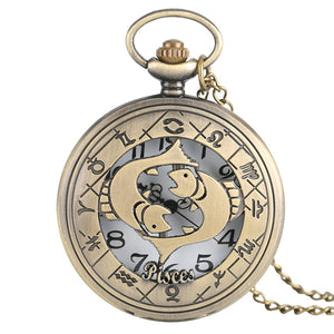 Men's Vintage Zodiac Pocket Watch