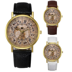 Vesuvian Man Zodiac Sign Analog Quartz Watch