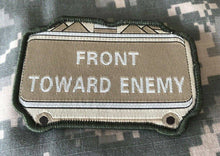 VELCRO® BRAND Hook Fastener Compatible Front Towards Enemy Multitan Patches 3.5""