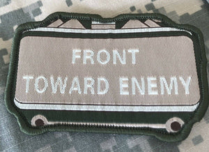 VELCRO® BRAND Hook Fastener Compatible Front Towards Enemy MLTN Tan Patches 3.5""