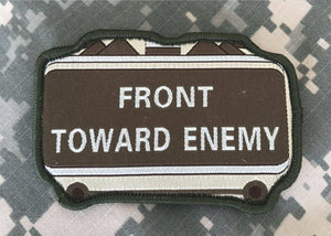 BuckUp Tactical Morale Patch Hook Front Towards Enemy Brown Green Patches 3.5""