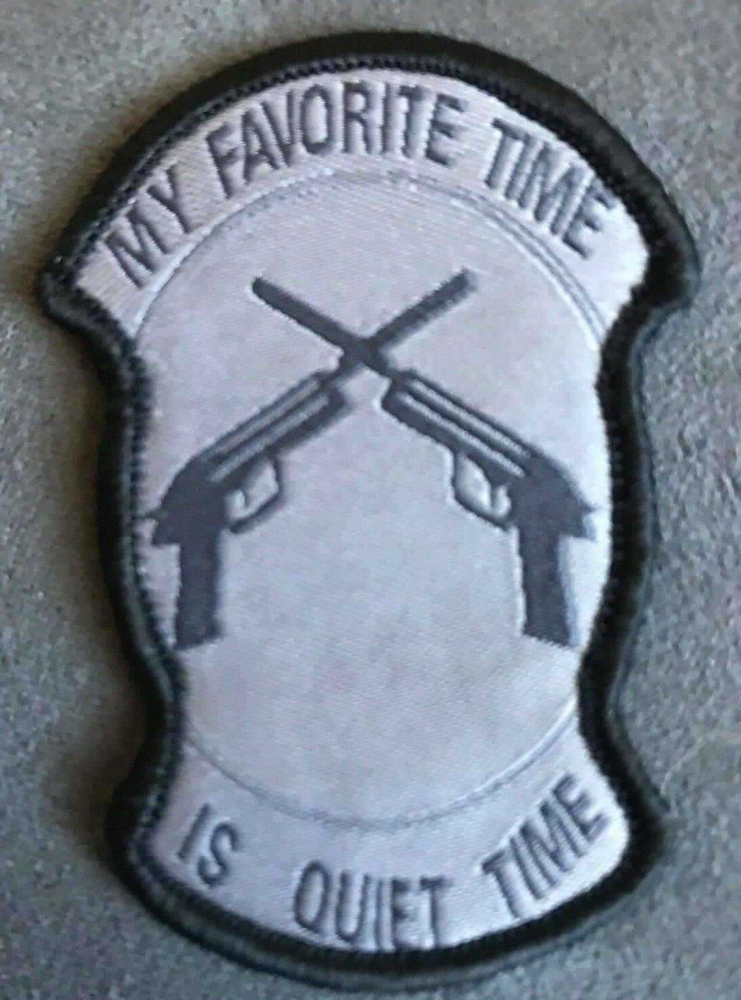 BuckUp Tactical Morale Patch Hook My Favorite Time is Quite Time ACU Patch