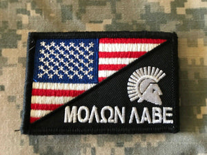 BuckUp Tactical Morale Patch Hook Molon Labe USA Split  Come and Take it Patches