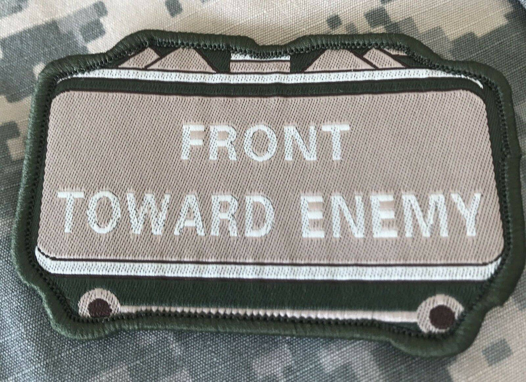 VELCRO® BRAND Hook Fastener Compatible Front Towards Enemy MLTN Tan Patches 3.5