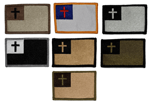 BuckUp Tactical Morale Patch Hook Christian Flag Patches 3x2