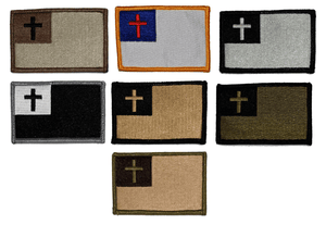 BuckUp Tactical Morale Patch Hook Christian Flag Patches 3x2""