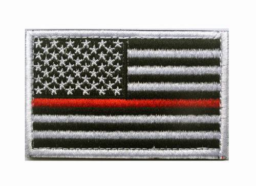 BuckUp Tactical Morale Patch Hook USA US Thin Red Line FD Patches 3x2