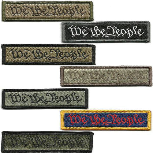 BuckUp Tactical Morale Patch Hook We The People Morale Patches 3.75x1
