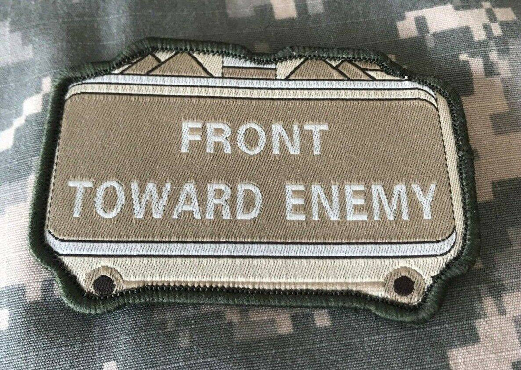 VELCRO® BRAND Hook Fastener Compatible Front Towards Enemy Multitan Patches 3.5
