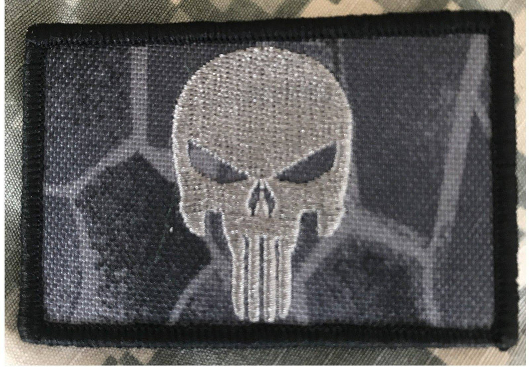 BuckUp Tactical Morale Patch Hook Punisher Kryptek Typhoon Patches 3x2