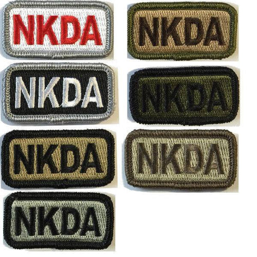 BuckUp Tactical Morale Patch Hook NKDA Allergy Patches 2x1