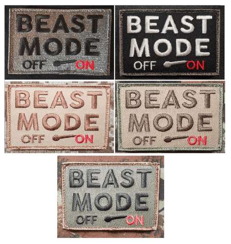BuckUp Tactical Morale Patch Hook BEAST MODE ON OFF Patches 3x2