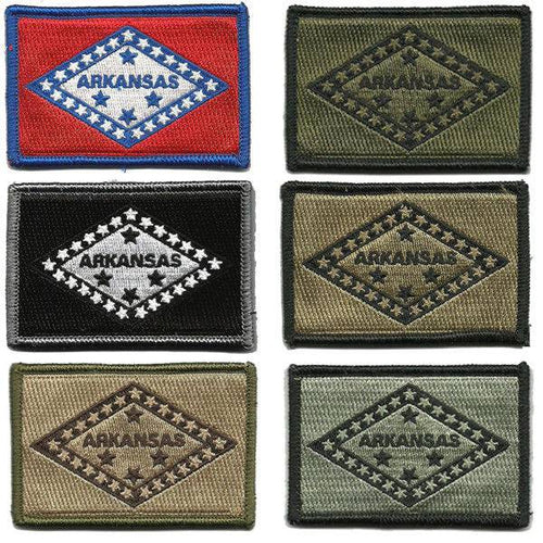 BuckUp Tactical Morale Patch Hook Arkansas Little Rock State Patches 3x2