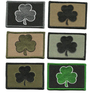 BuckUp Tactical Morale Patch Hook Clover Irish Patches 3x2""