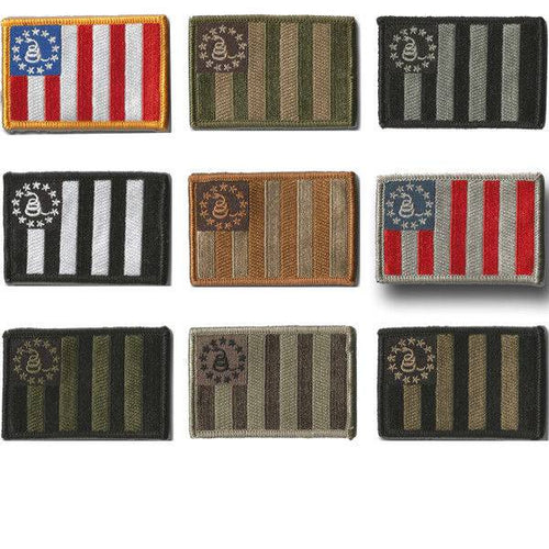 BuckUp Tactical Morale Patch Hook Sons Of Liberty Gadsden DTOM Patches 3x2