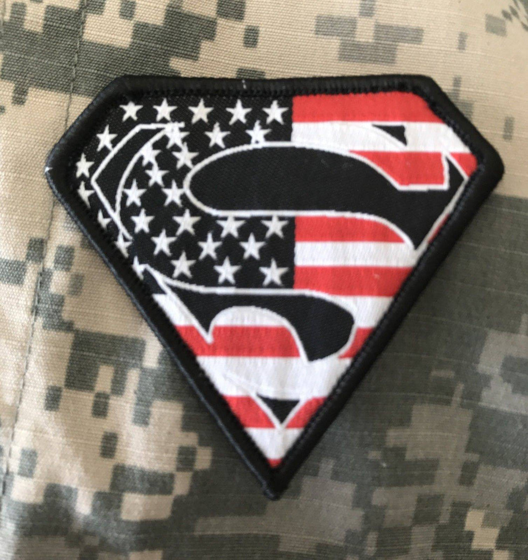 BuckUp Tactical Morale Patch Hook Superman USA Full Color Patches 2.75