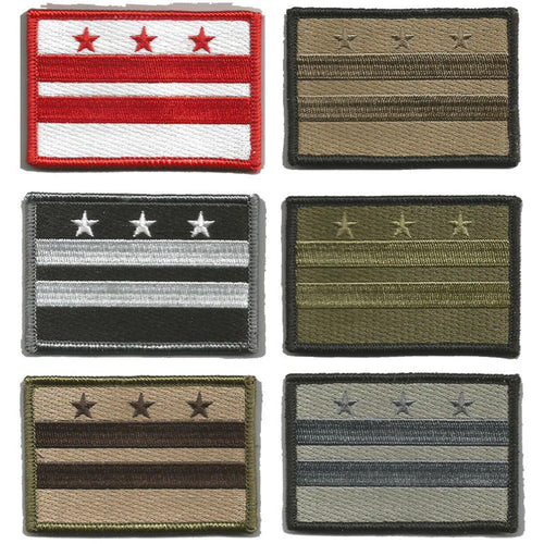 BuckUp Tactical Morale Patch Hook District of Columbia State Patches 3x2