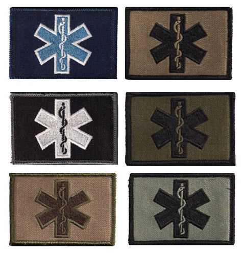 BuckUp Tactical Morale Patch Hook Medic EMT Patches 2x3