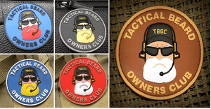 BuckUp Tactical Morale Patch Hook Beard Owners Club Tactical Patches 2.5""