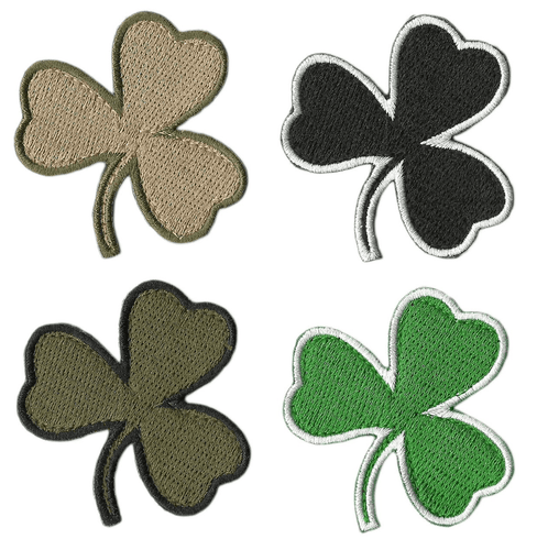 BuckUp Tactical Morale Patch Hook Die Cut Clover Patches 2