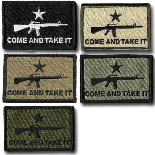 BuckUp Tactical Morale Patch Hook M16 M-16 Come And Take It Patches 3x2