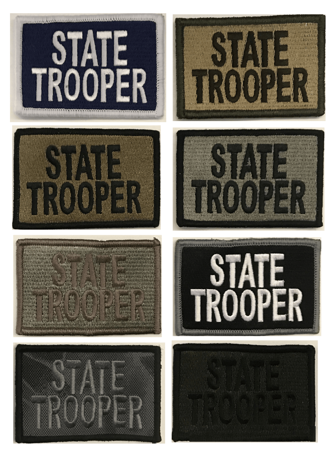 BuckUp Tactical Morale Patch Hook State Trooper Patches 3x2