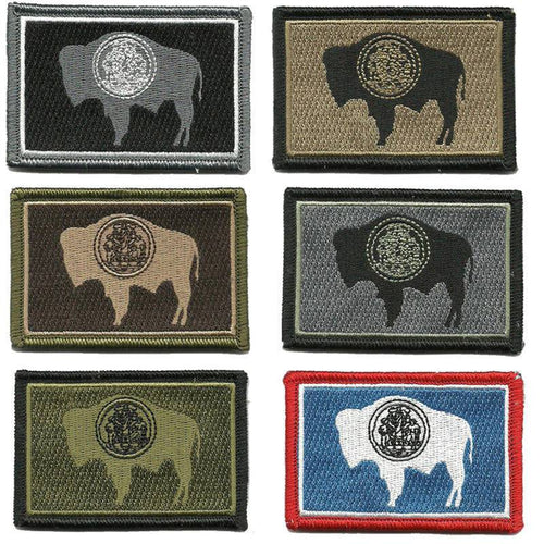 BuckUp Tactical Morale Patch Hook Wyoming Cheyenne State Patches 3x2