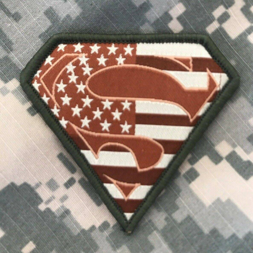 VELCRO® BRAND Hook Fastener Compatible Patch Superman USA Multitan Patches 2.75