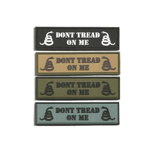 "BuckUp Tactical Morale Patch Hook PVC DONT TREAD ON ME MORALE PATCH 1""x3.75"""