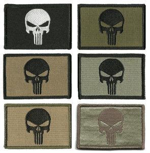 BuckUp Tactical Morale Patch Hook Punisher Patches 3x2""