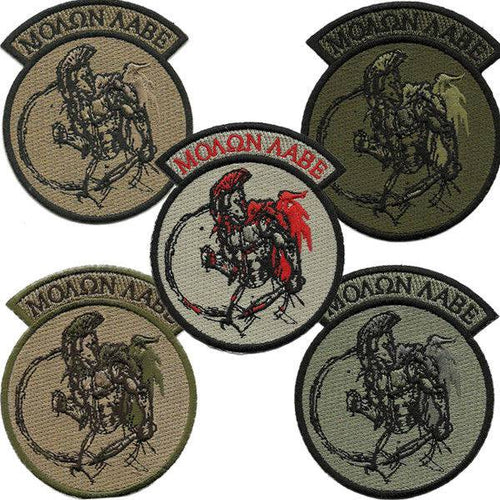 BuckUp Tactical Morale Patch Hook Molon Labe Rocker 3
