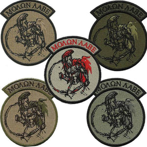 "BuckUp Tactical Morale Patch Hook Molon Labe Rocker 3"" Sized Patches"