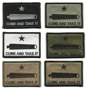 BuckUp Tactical Morale Patch Hook Gonzales Come & Take it Cannon Patches 3x2""