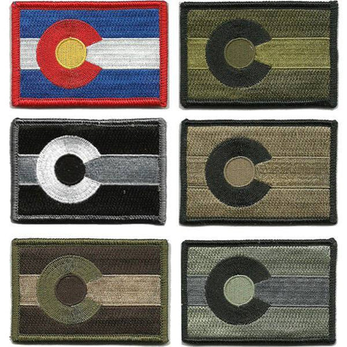 BuckUp Tactical Morale Patch Hook Colorado Denver State Patches 3x2